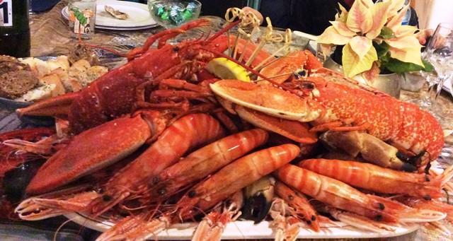 pltx pour 4 person-homard breton, lang ecossaise du croisic viv, grosses u10